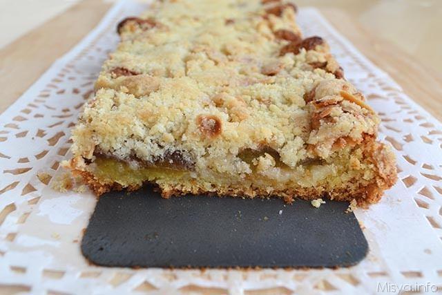 Torta crumble di prugne