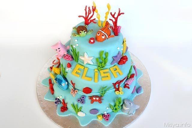 torta di nemo a 3 piani