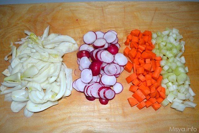 Crudite di verdure con salsa allo yogurt 2