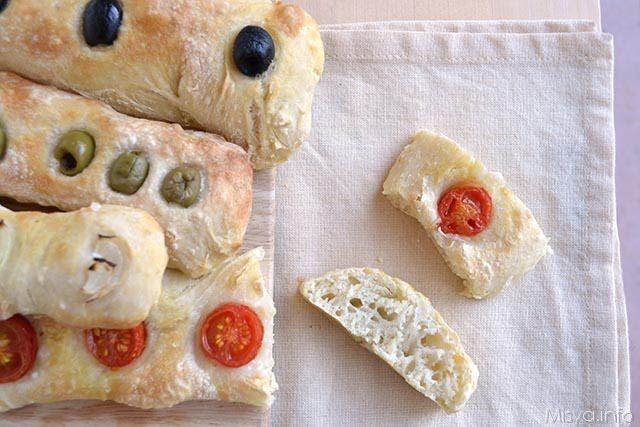 Stecche di pane farcite