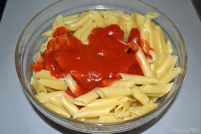 Frittata di maccheroni al salame 4