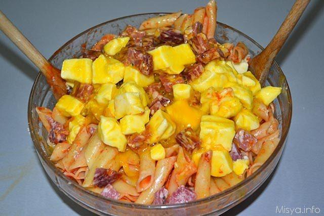 Frittata di maccheroni al salame 9