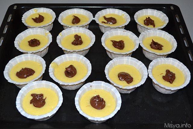 Muffin yogurt e nutella 8
