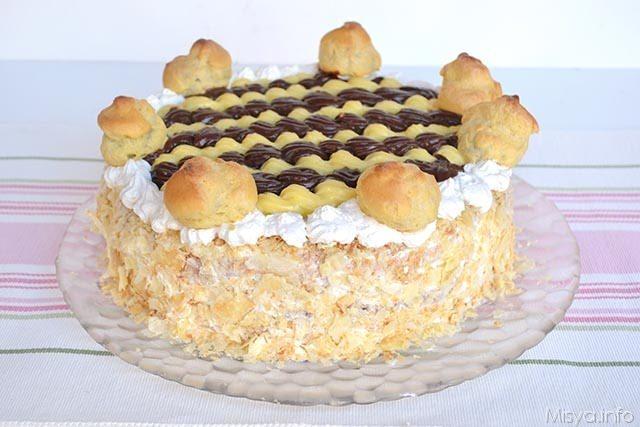 Torta saint honor ricetta torta saint honor di misya for Isola di saint honore caraibi