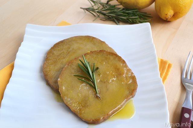Scaloppine di seitan al limone
