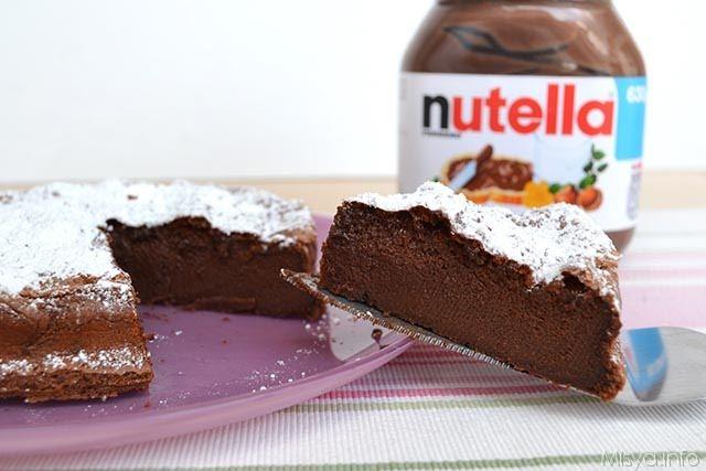 Ricetta torta al cioccolato nutella