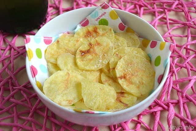 Chips di patate al microonde ricetta chips di patate for Microonde ricette