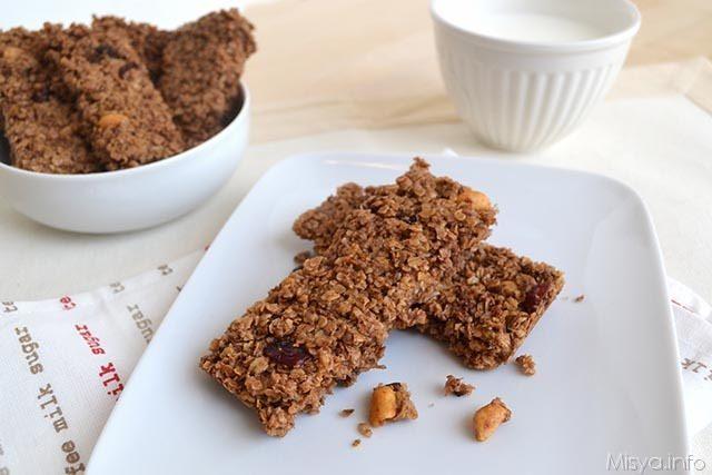 Ricette Biscotti Flapjack - barrette di avena