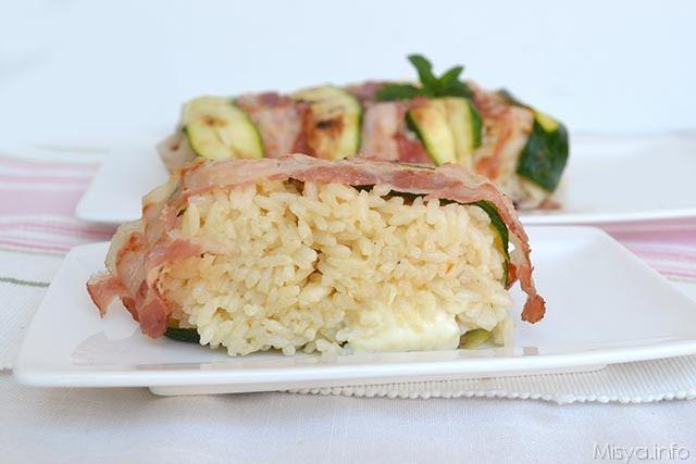 Sformato di riso bacon e zucchine