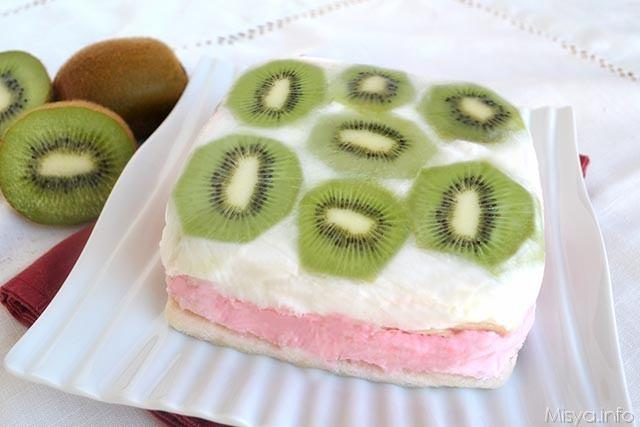 Torta gelato alla frutta