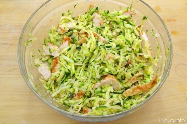 Torta salata con pollo e zucchine 7