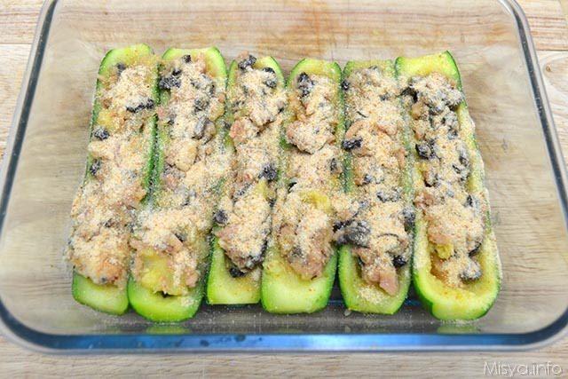 Zucchine ripiene di tonno 10
