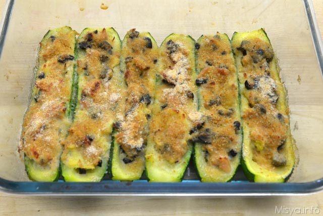 Zucchine ripiene di tonno 11