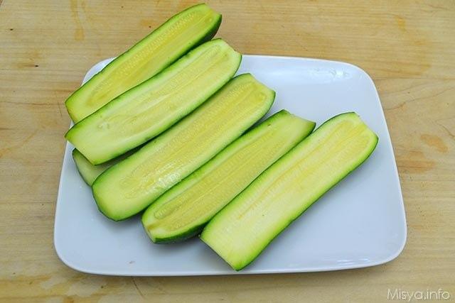 Zucchine ripiene di tonno 2