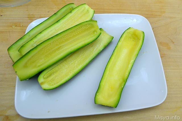 Zucchine ripiene di tonno 3