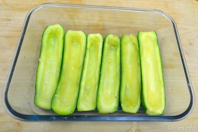 Zucchine ripiene di tonno 4