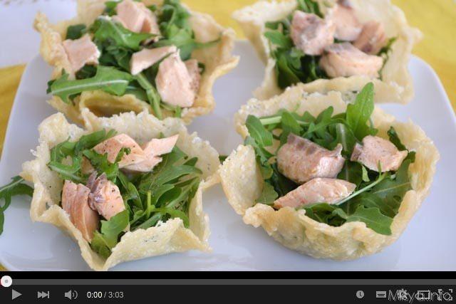 Video ricetta cestini di parmigiano