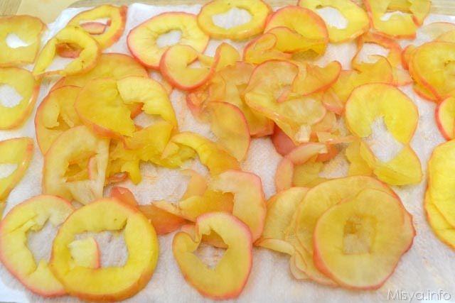 9 far asciugare le mele
