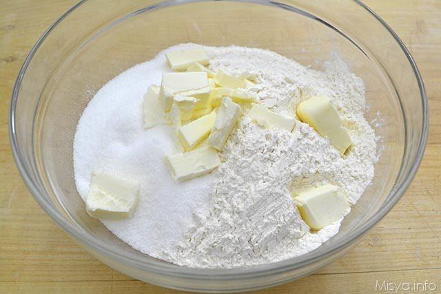 1 farina burro zucchero