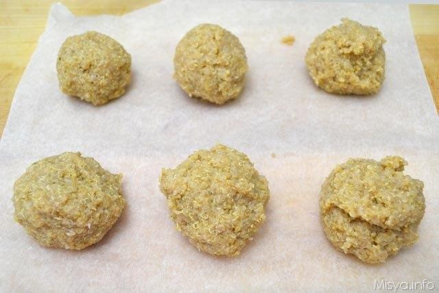 11 formare palline quinoa