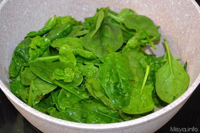 2 cuocere spinaci
