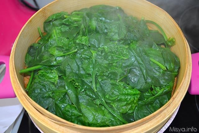 2 spinaci a vapore