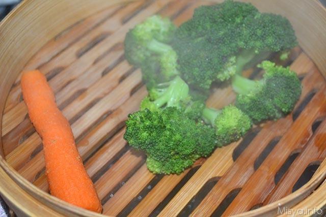 4 cuocere verdure a vapore