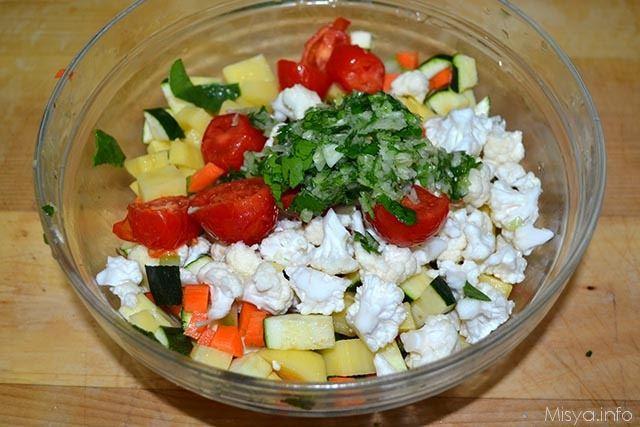 4 verdure tagliate