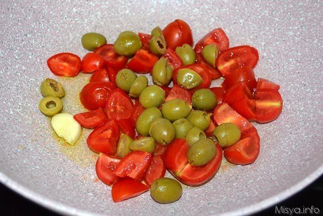 5 pomodorini e olive