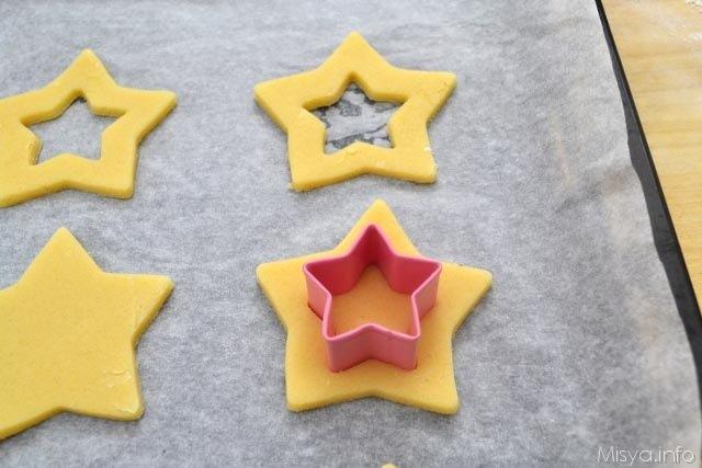 5 tagliare a forma di stella