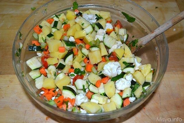 5 verdure tagliate