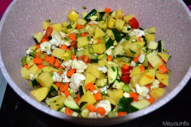 6 cuocere le verdure