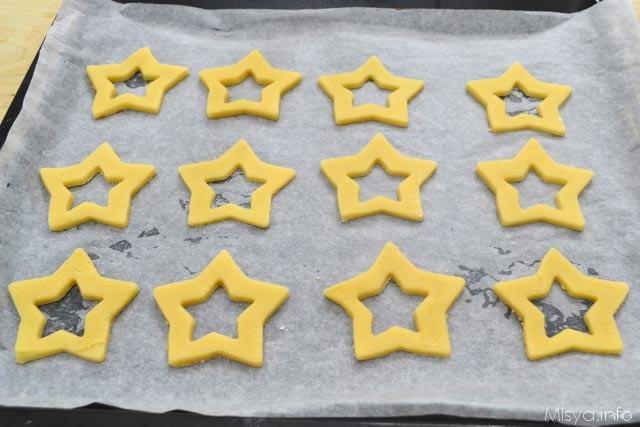 6 tagliare a forma di stella