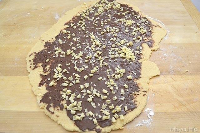 7 aggiungere riccioli cioccolato bianco
