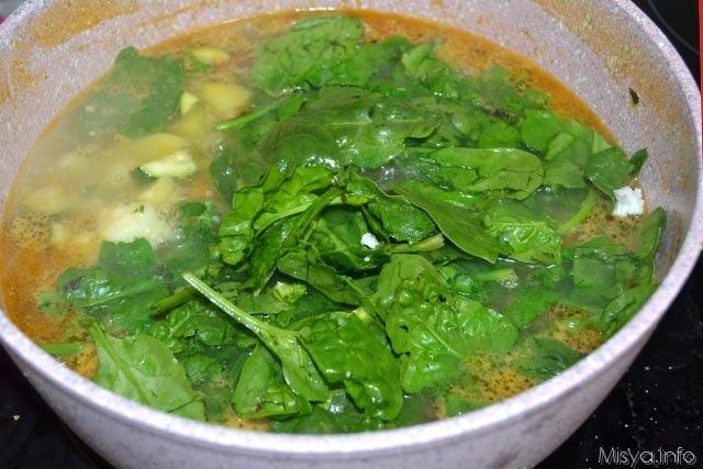 9 cuocere spinaci