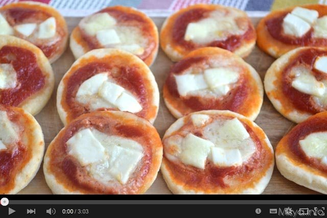 Video ricetta pizzette al Philadelphia