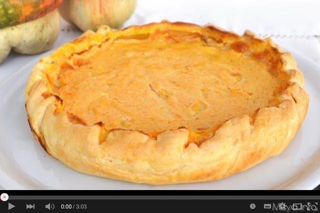 Video ricetta torta salata con zucca e ricotta