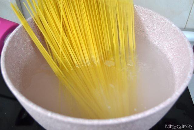 6 cuocere spaghetti
