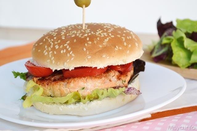 panino-Burger di salmone