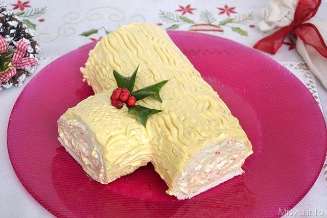 Tronchetto Di Natale Sale E Pepe.Rotolo Di Pan Di Spagna Salato Ricetta Rotolo Di Pan Di Spagna