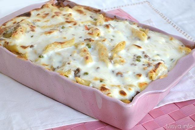 Pasta al forno bianca ricetta pasta al forno bianca di - Secondi piatti da cucinare in anticipo ...