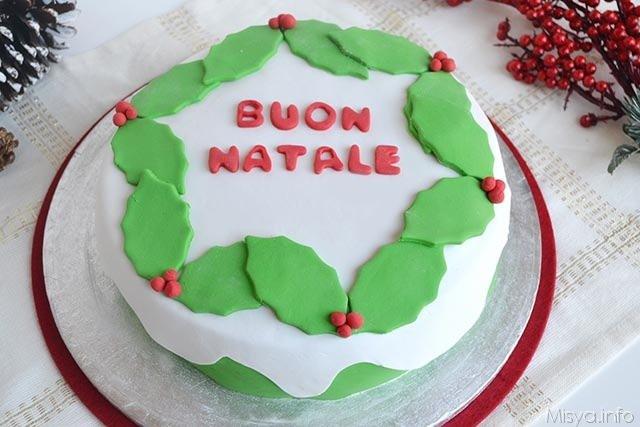 Torta di natale ricetta torta di natale di misya - Decorazioni torte natale ...