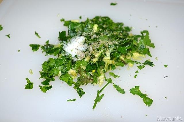 1 erbe aglio tritati