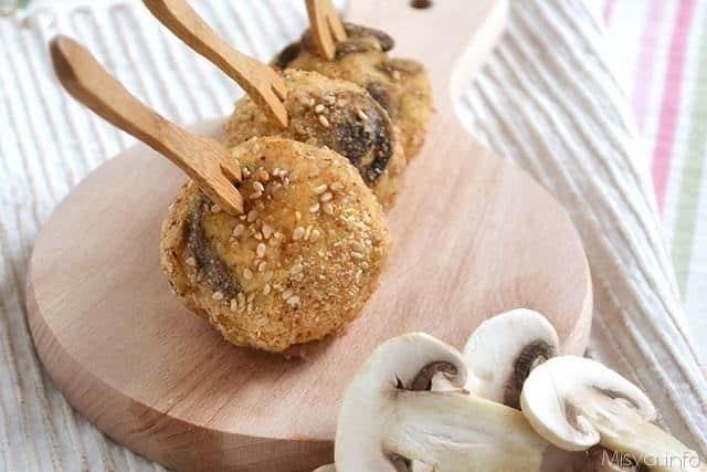 Polpette di pollo e funghi