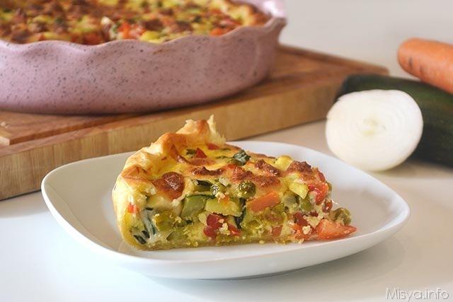Torta salata alle verdure ricetta torta salata alle for Ricette con verdure