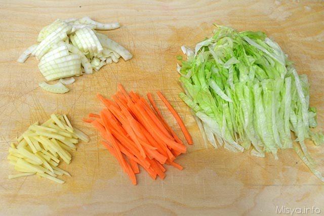 1 tagliare insalata