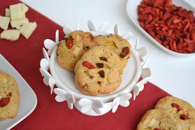 Biscotti con bacche di goji