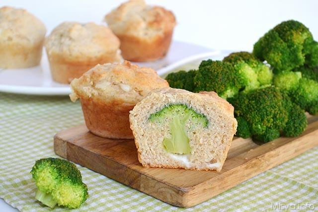 Muffin con cuore di broccolo