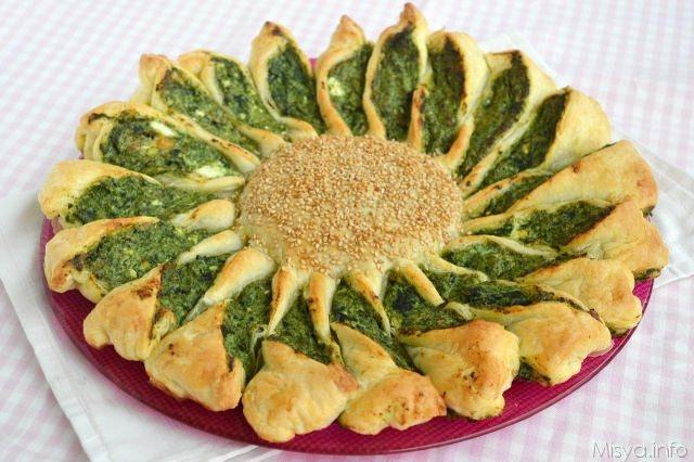 Torta fiore ricotta e spinaci