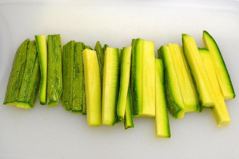 1 zucchine tagliate